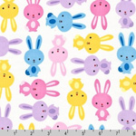 Urban Zoologie Bunnies Multi Fabric