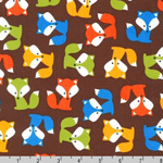 Urban Zoologie Fox Pups Brown Fabric