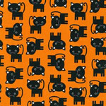 Urban Zoologie Black Cat Orange Fabric