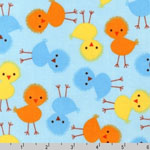 Urban Zoologie Chicks Sky Fabric