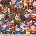 Whiskers and Tails Cat Kitten Multi Fabric