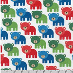 Woodland Pals Bear Primary Fabric