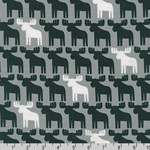 Woodland Pals Moose Gray Black White Fabric