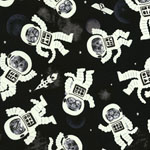 Glow in the Dark Astrocats Fabric
