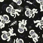 Glow in the Dark Astrocats Fabric
