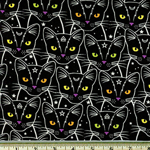 Glow in the Dark Cat Fabric