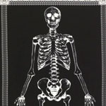 Glow in the Dark Mr. Bones Panel Fabric