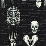 Glow in the Dark Bones Fabric