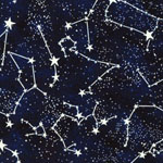 Constellations Star Glow in the Dark Fabric