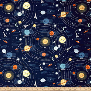 Supernova Space Jersey Knit Fabric