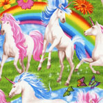 Unicorns and Rainbows Jersey Knit Fabric