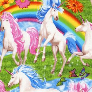Unicorns and Rainbows Jersey Knit Fabric