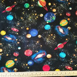 Solar System Planets Jersey Knit Fabric
