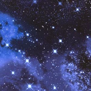 Galaxy Space Jersey Knit Blue Fabric