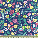 Hawaiian Flowers Jersey Knit Fabric Multi