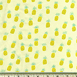 Pineapple Jersey Knit Fabric Lemon Yellow
