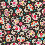 Sugar Skulls Jersey Knit Fabric