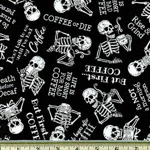 Tossed Skeletons in Need of Coffee Black