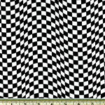 Black and White Checkered Flag Fabric