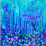 Forest Magic Panel with Butterflies