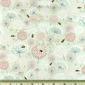 None of Your Beeswax bee fabric palm