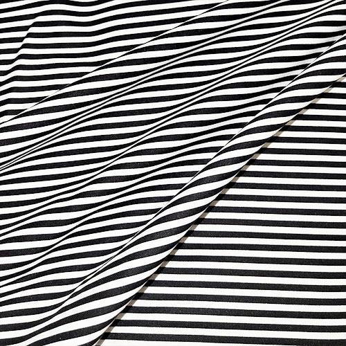 1/8th Stripe in Black and White Fabric