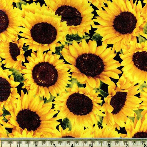 Packed Sunflowers Print Fabric
