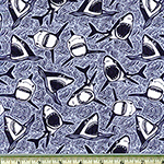 Dear Stella Jawsome Shark Fabric