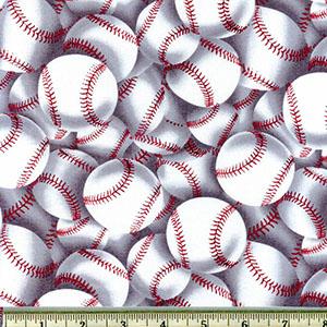 Packed Baseballs Fabric