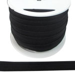 Fold Over Elastic in Black-Ten (10) Yards
