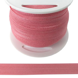 Fold Over Elastic in Pink-Ten (10) Yards