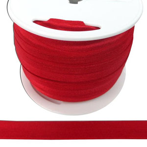 Fold Over Elastic in Red-Ten (10) Yards