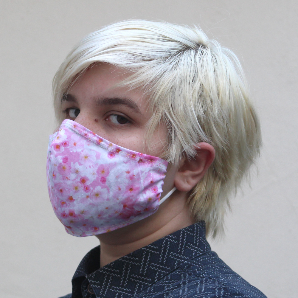 Contoured Cherry Blossom Mask Pink