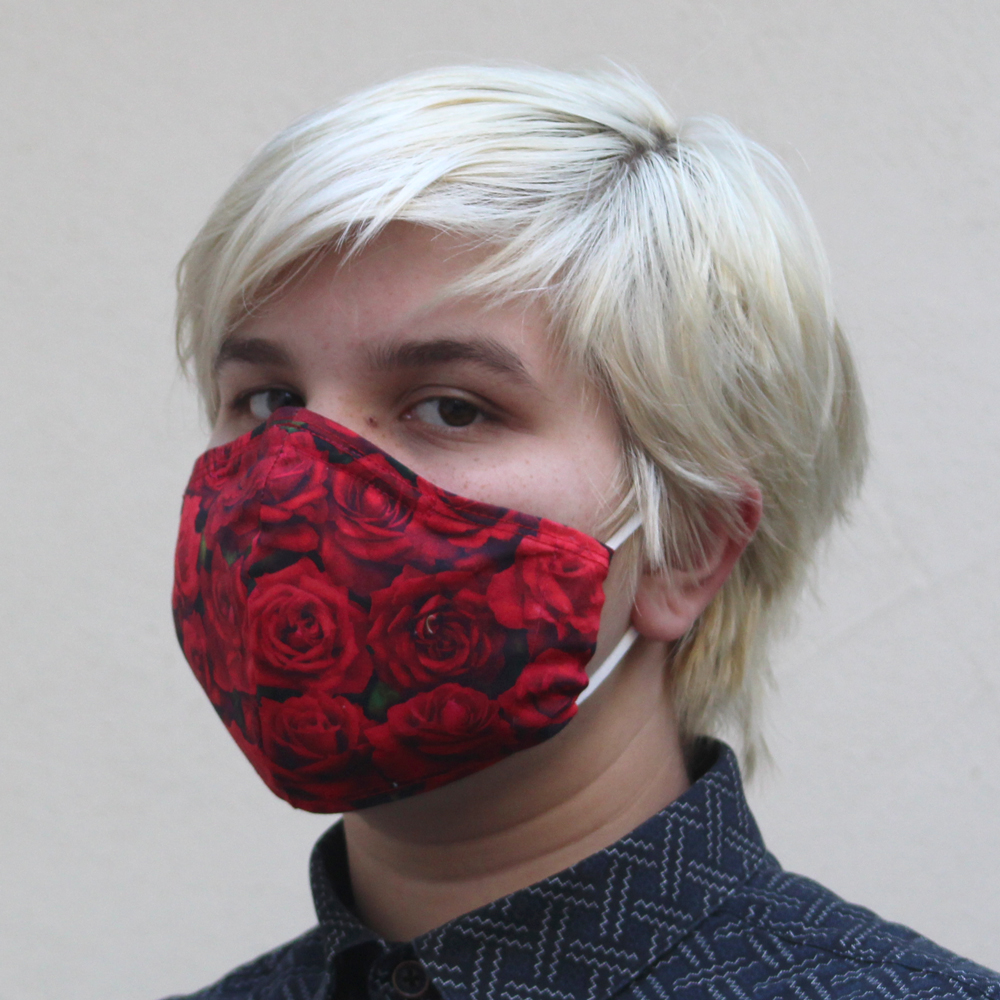 Contoured Rose Mask RedSize: Reg Adult, Sm Adult & Child