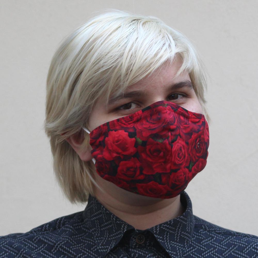 Contoured Rose Mask Red