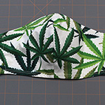 Contoured Hemp Mask in GreenSize: Reg Adult & Sm Adult