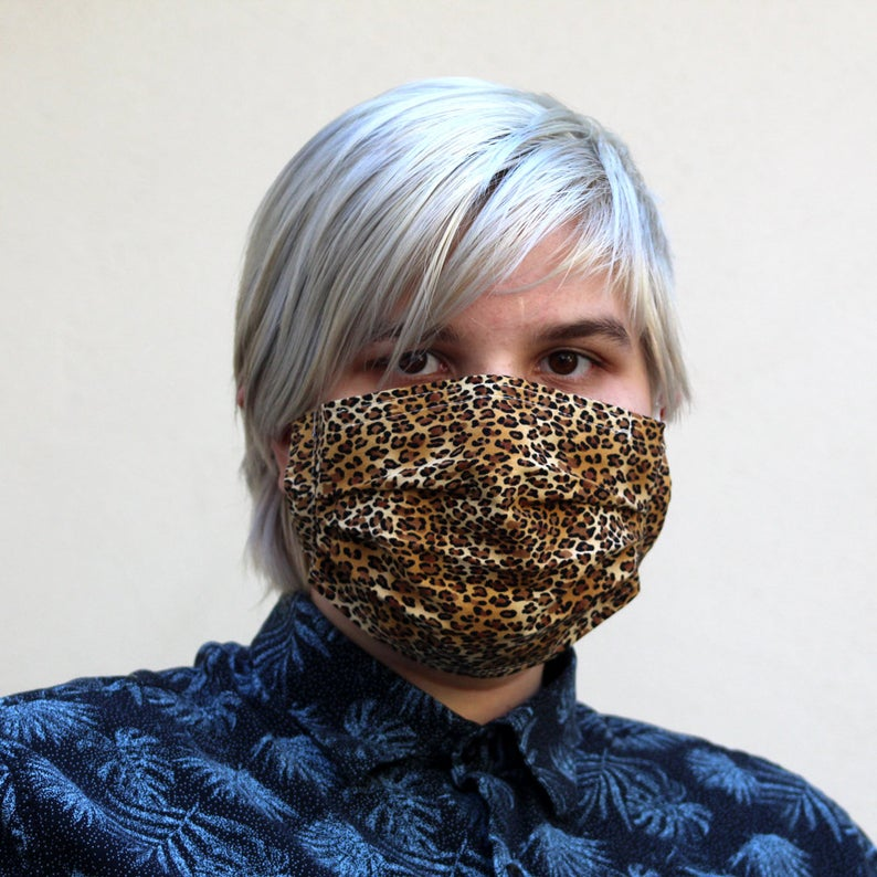 Pleated Tiny Leopard MaskSize: Reg Adult, Sm Adult & Child