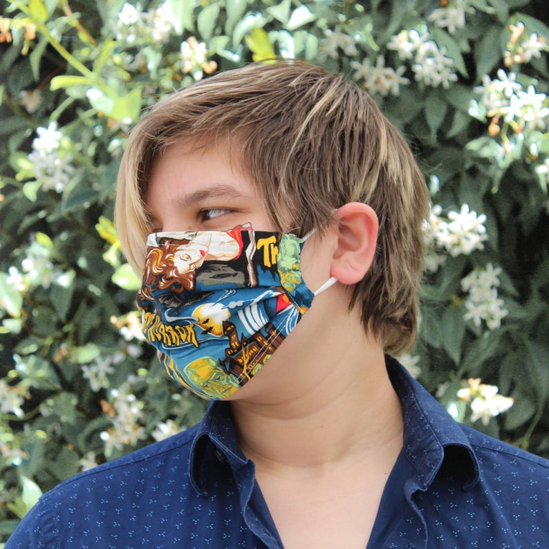 Pleated Monsters Mask
