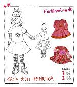 Henrika Girly Dress Pattern