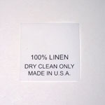 100% Linen Taffeta Care Labels