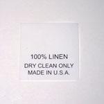 100% Linen Taffeta Care Labels