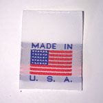 Made in the USA Flag Large Woven Label