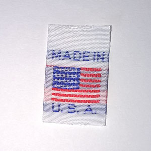 Made in the USA Flag Small Woven Label