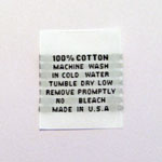 100% Cotton Care Tags