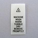 Machine Wash Warm Care Tags