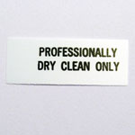 Professionally Dry Clean Only Care Tags