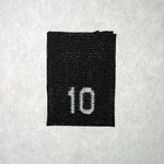 Size 10 Size Tags- Black