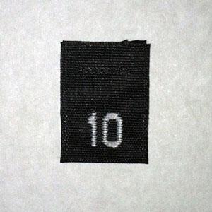 Size 10 Size Tags- Black