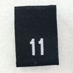 Size 11 Size Tags- Black