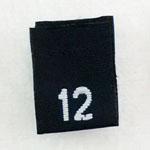 Size 12 Size Tags- Black